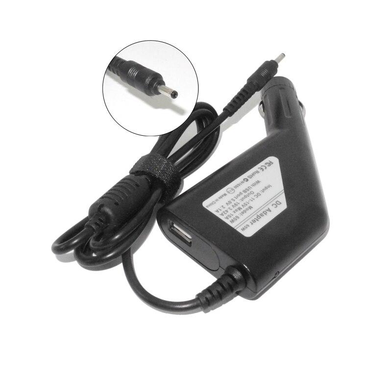19 V 3.42a 65 W portátil cargador de coche DC para Acer ICONIA S5 S7 W700 w700p Adaptadores de corriente para Acer Chromebook c720 c720p