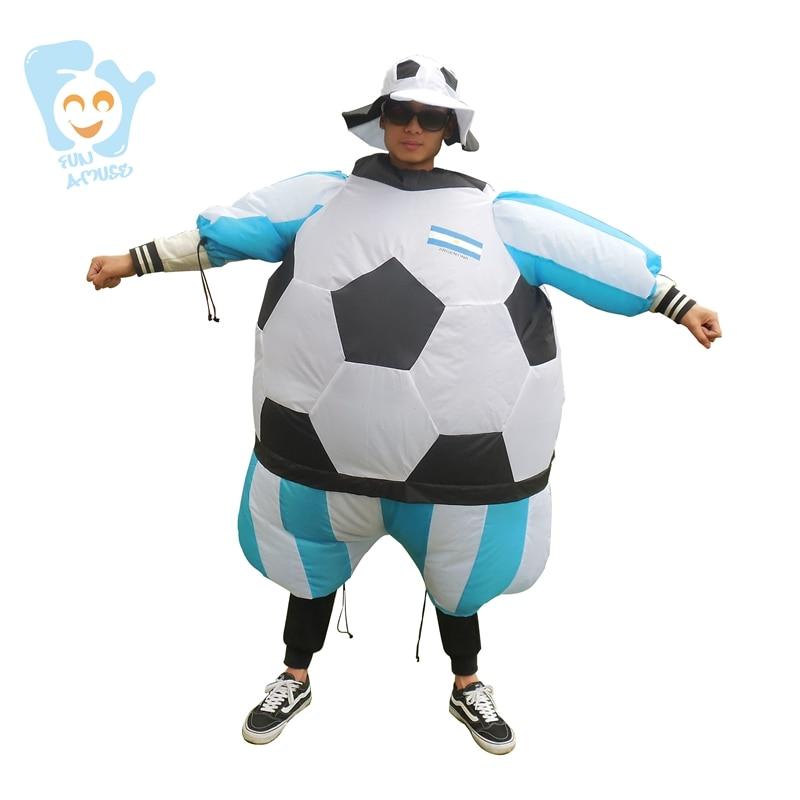 Halloween <font><b>Costume</b></font> Men Cosplay Inflatable Soccer Football <font><b>Costumes</b></font> Adult <font><b>Fancy</b></font> Dress <font><b>World</b></font> <font><b>Cup</b></font> National Soccer Team Jersey