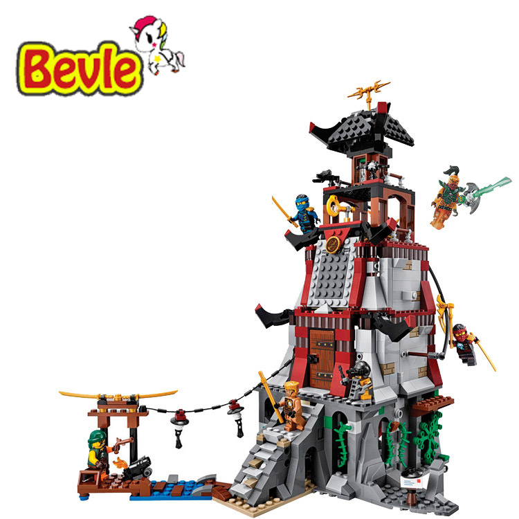 ФОТО Bela 10528 Ninja The Lighthouse Siege Nya/Jay/Zane Building Blocks Bricks Toy Compatible With LEPIN Ninja 70594
