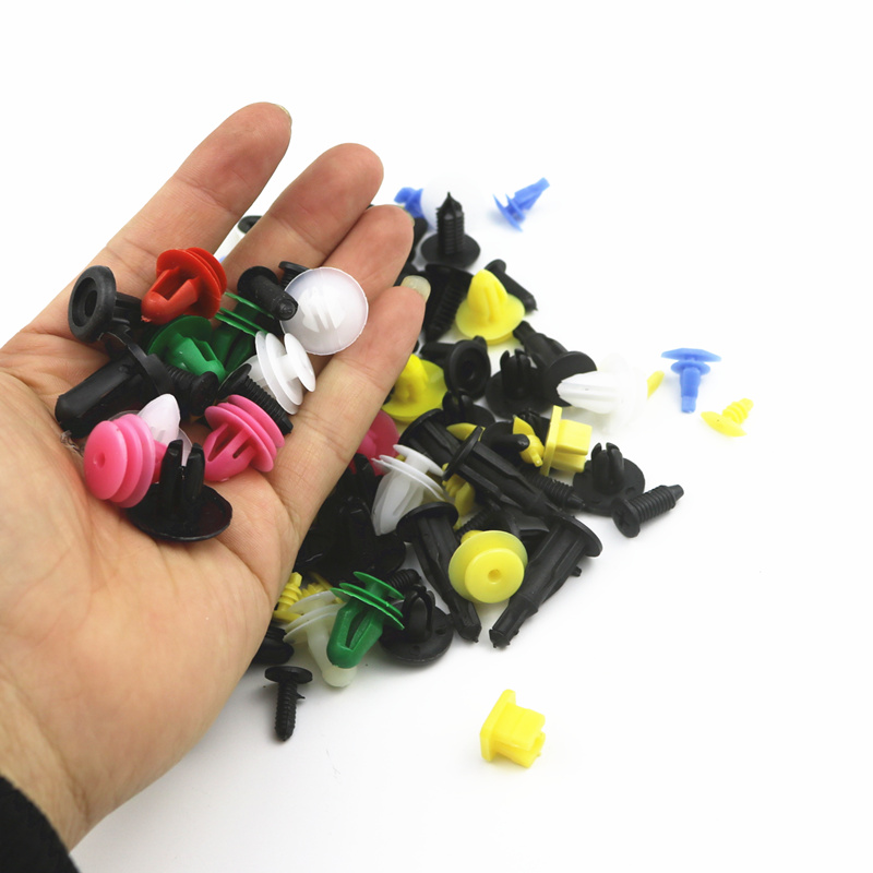 100pcs Car Universal Mixed Clips For  Skoda Octavia A5 A7 RS Fabia Superb Rapid Yeti  Accessories Car Styling