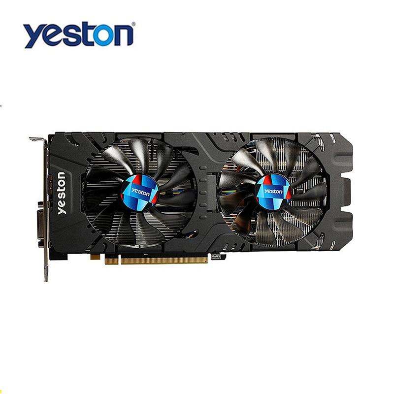Yeston Radeon RX570 4 г GDDR5 Графика карты 256bit двойной silent Контроль температуры Вентиляторы + 6-Pin Extender Riser Card адаптер Костюм