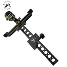 1-Pin 0.059 Compound Bow Sight with 4X Lens Black Archery Hunting Shooting Accessories