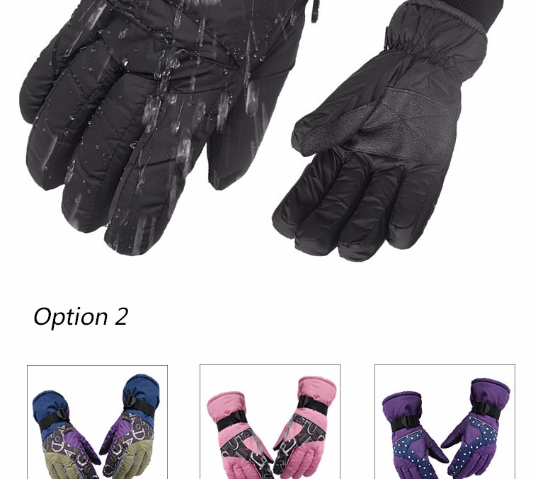 2017 Top Quality New Brand Men's Ski Gloves Snowboard Snowmobile Motorcycle Riding Winter Gloves Windproof Waterproof Snow Glove 12