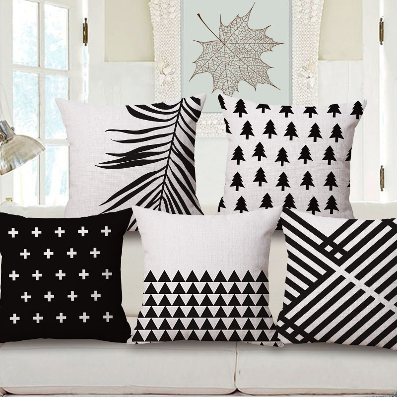Nordic Geometry Direction Mark Tree One Side Printing Home Decor Sofa Seat Decorative Cushion Cover Pillow Case Capa Almofada