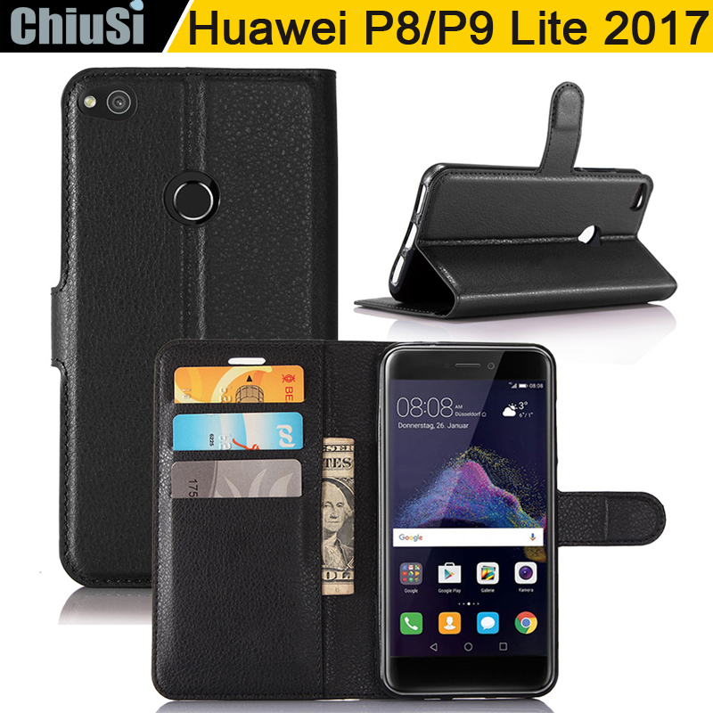 Fashion Wallet PU Leather <font><b>Case</b></font> Cover For <font><b>Huawei</b></font> P8 Lite 2017/P9 Lite 2017/GR3 2017/Honor 8 Lite Flip Protective <font><b>Phone</b></font> Back Shell