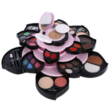 New High Quality Rotating Big Rose Makeup kit,Fashion cosmetics set,Solid Lipgloss,WaterProof Mascara,Magic Eyeshadow,Lipstick