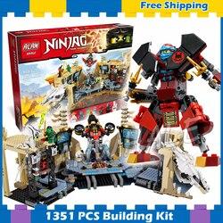 1307pcs Bela 06039 Ninja Samurai X Cave Caos Blocchi di Costruzione Jay Lloyd Giocattoli Compatibile Con Lego