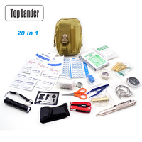 Camping Equipment Survival Kit Military Emergency First Aid Kit Tactical SOS Gear EDC Travel Kits Pouch Multi Outdoor Tools