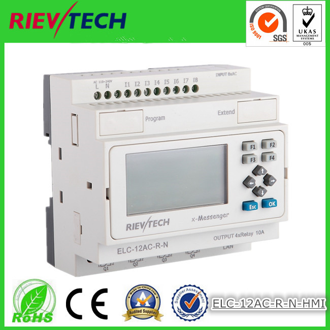 Back To Search Resultscomputer & Office Ethernet Plc,ideal Solution For Remote Control& Monitoring &alarming Applications built-in Ethernet Capability Elc-12ac-r-n