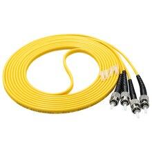 5pcs/bag 5m ST/UPC-ST/UPC Duplex 2.0mm Single Mode Fiber Optic Patch Cord