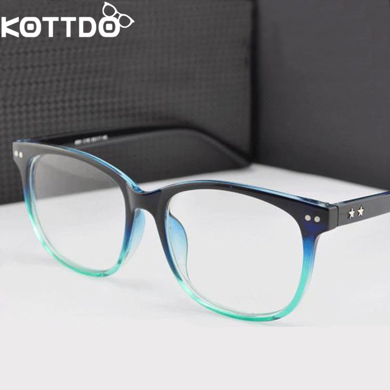 KOTTDO Retro Marco de Anteojos Mujeres Hombres Anteojos Óptico Marco de Anteojos Para Mujeres gafas de lectura Gafas de Sol