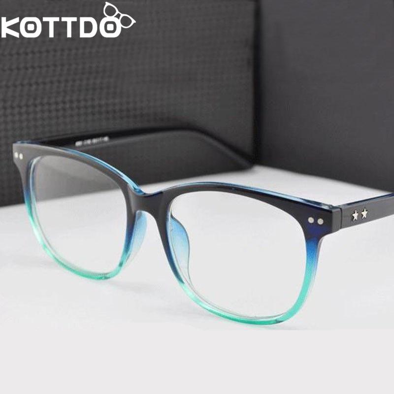 KOTTDO Retro Brillen Frame Vrouwen Mannen Bril Optische Brillen Frame Voor vrouwen leesbril Eyewear Oculos De Sol