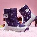 2017 del tobillo del invierno niños botas tacones zapatos niñas zapatos casuales altura aumento high top zapatos de los niños calientes color mezclado para niños