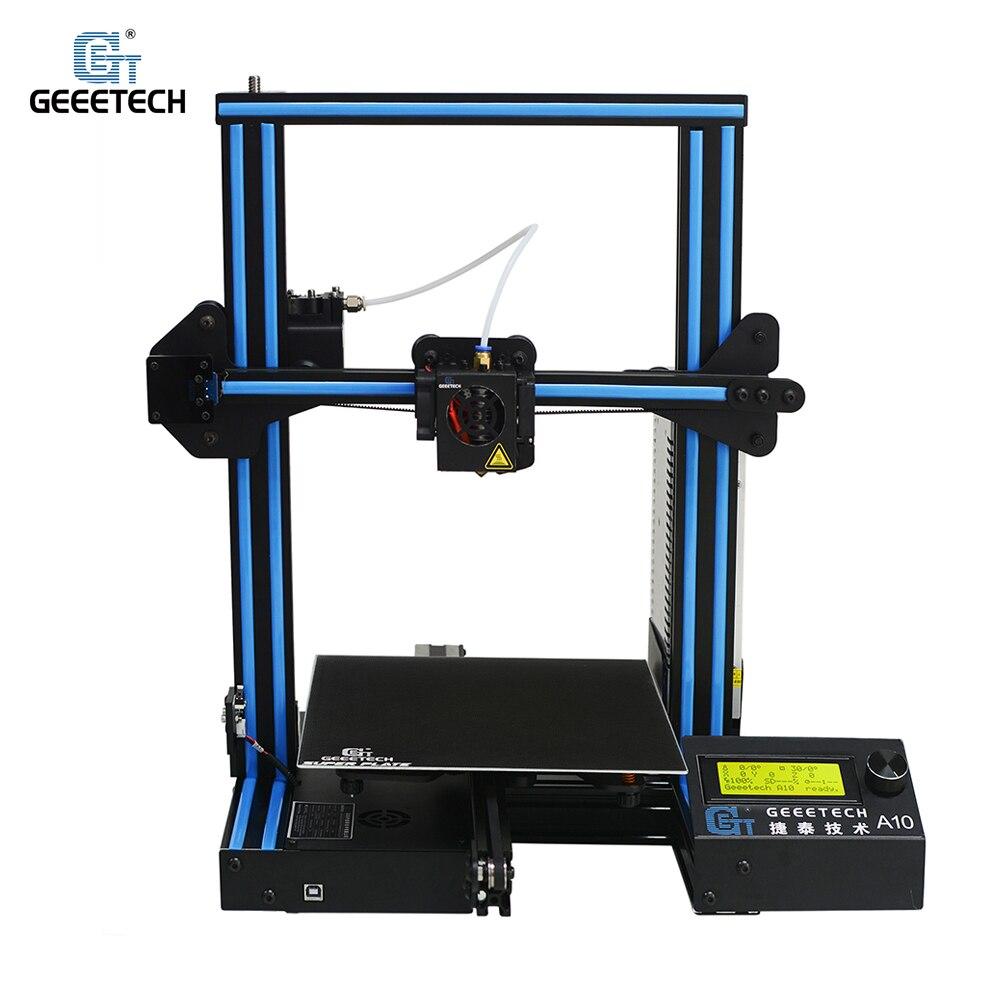 Geeetech A10 3D Imprimante En Aluminium DIY Kit I3 Haute Précision CNC Rapide Auto-assemblé Bureau 3D Imprimante Grande Taille 220*220*260mm