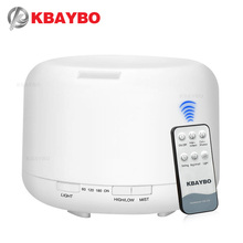 KBAYBO 500ml Remote Control Ultrasonic Humidifier With 7 Color LED Lights Electric Aromatherapy Essential Oil Aroma Diffuser