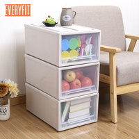 Free Combination Drawer Cabinet Plastic Ticked Storage Cabinet Storage Box Drawer Stacking Lockers Containing Cabinet S M L XL
