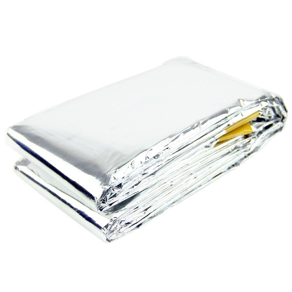Новый аварийного спальный мешок Сверхлегкий Портативный изоляции Выживание спасения Открытый Отдых серебро Одеяло ...
