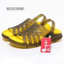 2017 New Summer Men's Home Slippers Hole Shoes Men's Jelly Beach Sandals High Quality Non-slip Indoor Bathroom Slippers Men