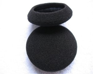 """Image 2 - 10 Pairs 60mm/2.4"""" Replacement Foam Earpads Cushion For Logitech H600 H330 H340/Aiwa HP CN5/Labtec Axis 502 headset Black"""