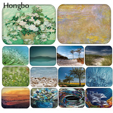 Hongbo Landscape New Arrive Door Mats for Entrance Natural Scenery Pattern Carpets Living Room Dust Proof Home Decor