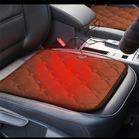Winter Car Heated Cushion Office Chairs Electric Heated Black Coffee Color Seat Cushion Carbon Fiber Electric