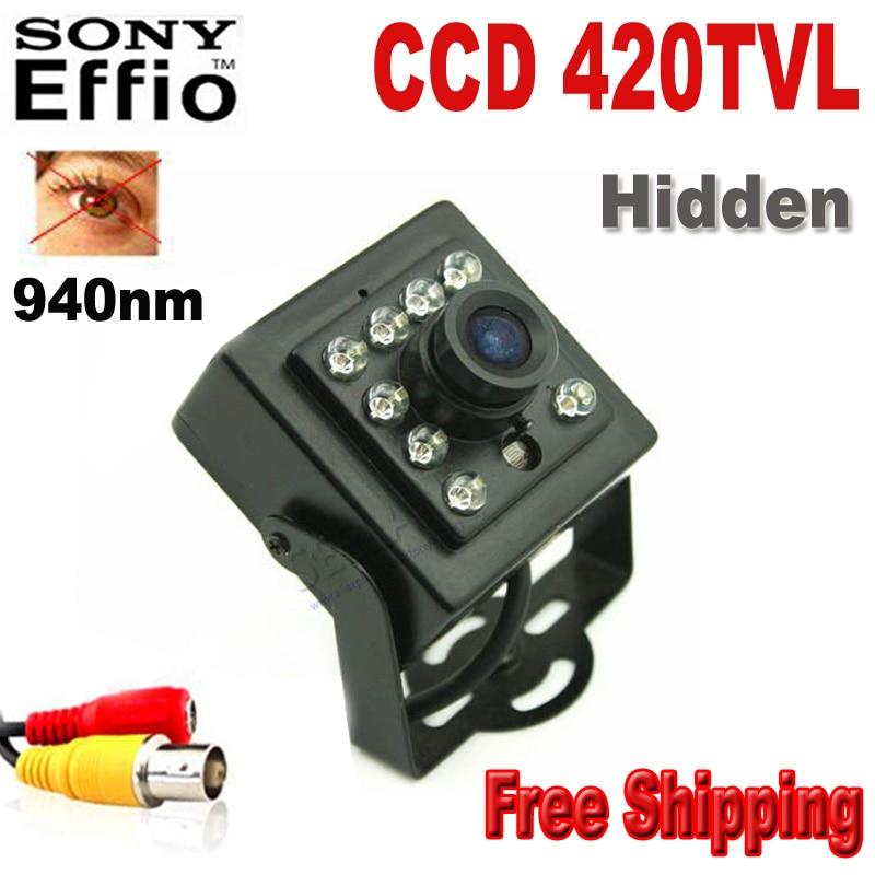 ФОТО CCD 420TVL CCTV security Camera CCD Color Night Vision  mini ir camera Indoor CCTV Mini PIR Style 3.6mm Len Surveillance Camera