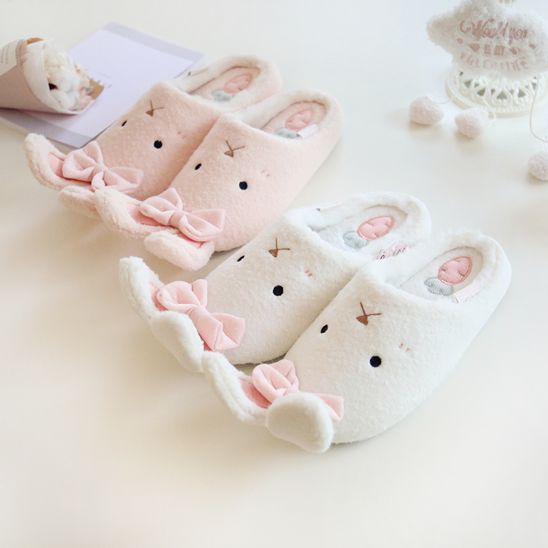 Image 4 - Millffy new warm winter cute adorable bunny slippers rabbit super soft warm anti  slip house wear bedroom shoesbedroom shoesbunny slippersslippers rabbit -