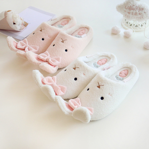 Image 4 - Millffy Новые теплые зимние милые тапочки кролика, очень мягкая теплая Нескользящая одежда для дома, спальни