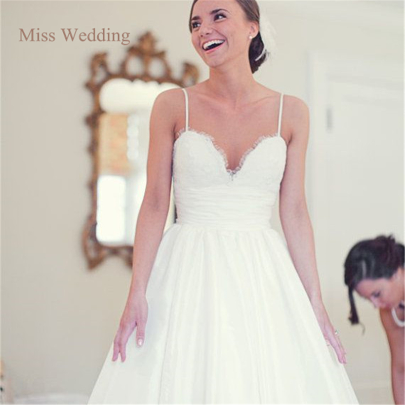 Eyelash Lace Straps Wedding Dress