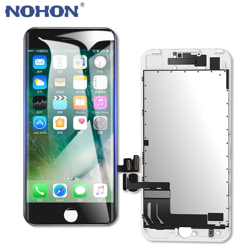 Nohon display lcd substituição da tela para apple iphone 6 s 7 8 mais 3d toque digitador assembléia com quadro aaaa telefone lcds painel