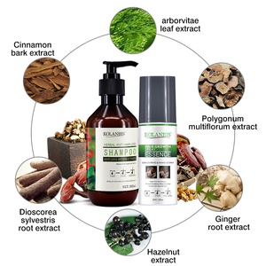 Image 2 - 4pc oily growth bald spray  tonic and ginseng hair loss regrowth shampoo for alopecia men fast follicle treatment essential oils