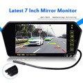 Mais recente 7 polegada TFT LCD Monitor Espelho para DVD/Tela de Exibição Veículo Estacionamento assistência Retrovisor inverte a câmera imagem Colorida