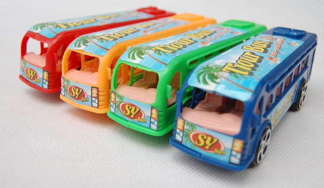 2016 mini cute children toy car model that no need battery vehicle slide mini small bus
