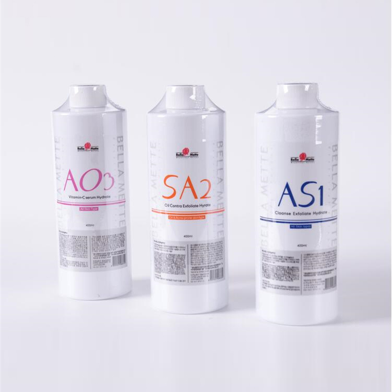 2019 Newest 400ml AS1 SA2 AO3 Aqua Peeling Solution For 6in1 7in1 8in1 Hydra Vitamin Water Dermabrasion Face Clean SPA