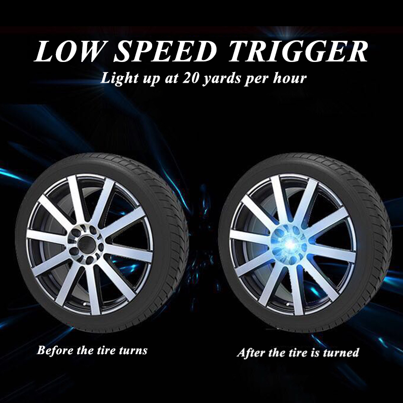 Image 4 - Hub Light 4X Car Wheel Caps Light Floating Illumination LED Light Center Cover Lighting Cap Auto Styling For Auto Car Accessorie-in Decorative Lamp from Automobiles & Motorcycles