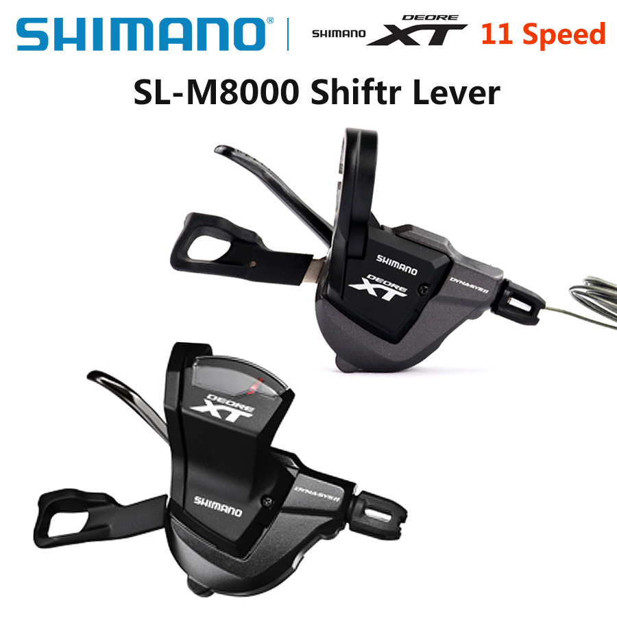 <font><b>Shimano</b></font> Deore <font><b>XT</b></font> SL <font><b>M8000</b></font> 11S 2/3x11S Shifter Lever Rapidfire Plus Shifting Levers Mountain Bike Shifter with Inner Cable image