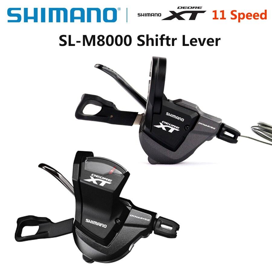 Shimano Deore XT SL M8000 11 S 2/3x11 S levier de manette de vitesse Rapidfire Plus leviers de changement de vitesse VTT manette de vitesse avec câble intérieur