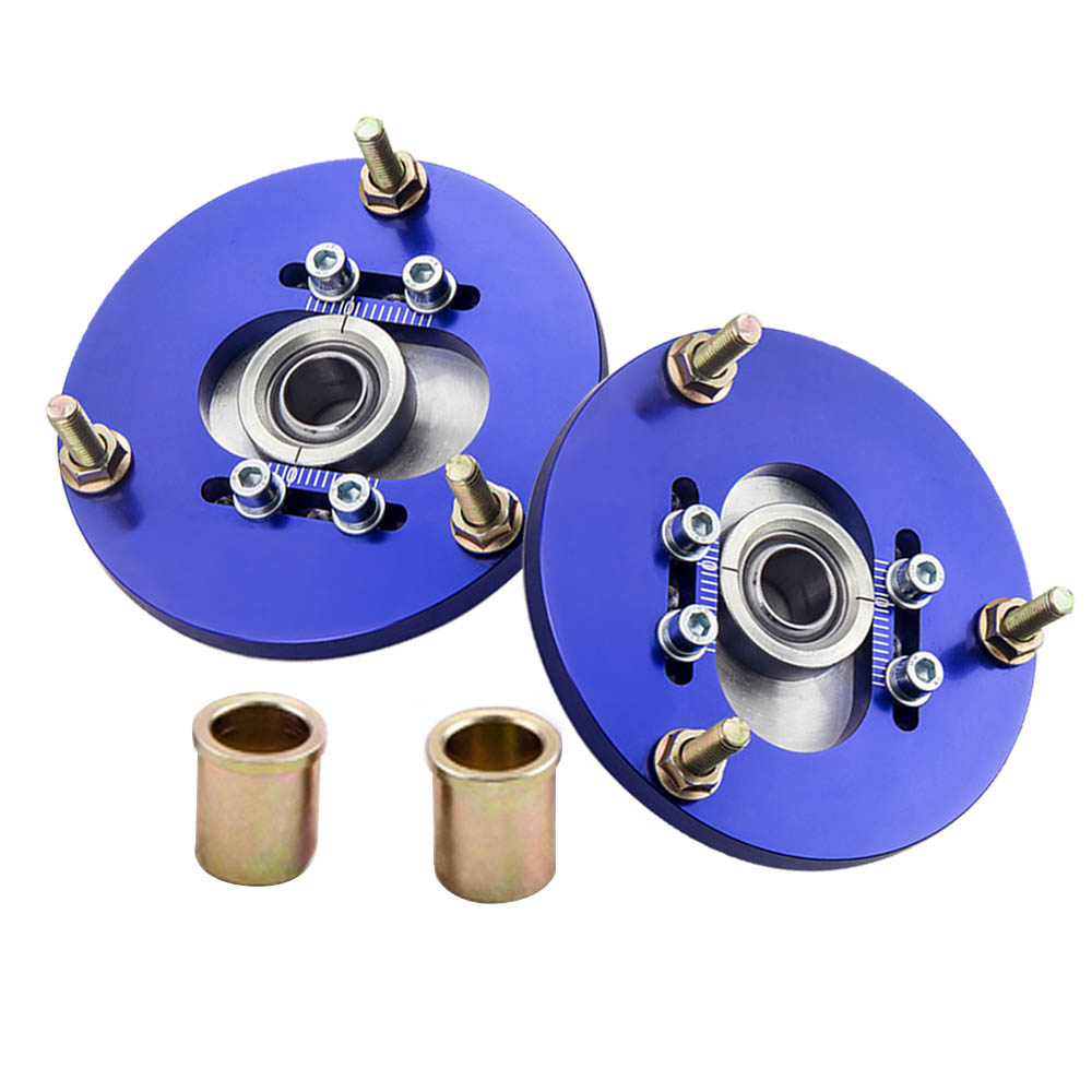 1 PAIR Adjustable Front Camber Plates For BMW E36 3 Series 318i 323is 325i 325is Top Mount Pillow Ball BLUE camber plates for bmw 3 series e46 320 323 325 328 m3 316 1998 2005 top mounts golden plates pillow ball golden