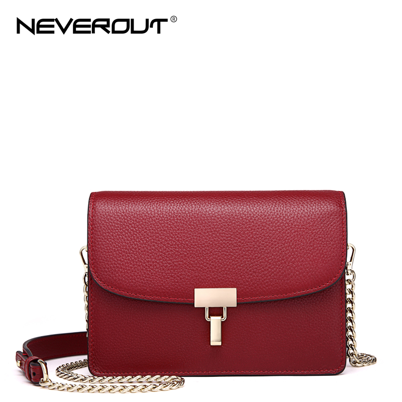 NEVEROUT 3 Color Real Leather Crossbody High Quality Solid Small Bag Women Shoulder Flap Bags Sac Brand Name Messenger Bags 2017 summer metal ring women s messenger bags solid scrub leather women shoulder bag small flap bag casual girl crossbody bags