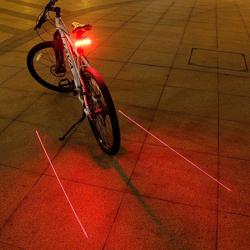 2018 Laser Vélo Feu Arrière USB Rechargeable LED Vélo Arrière Lumière Lampe 85 Lumen Montage Rouge Lanterne Pour la Lumière De Vélos Accessoires