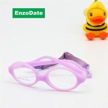 Детские оптических стекол с ремешком размер 39/14 цельный не винт сгибаемыми, Силикон малыша дети очки кадров и шнур