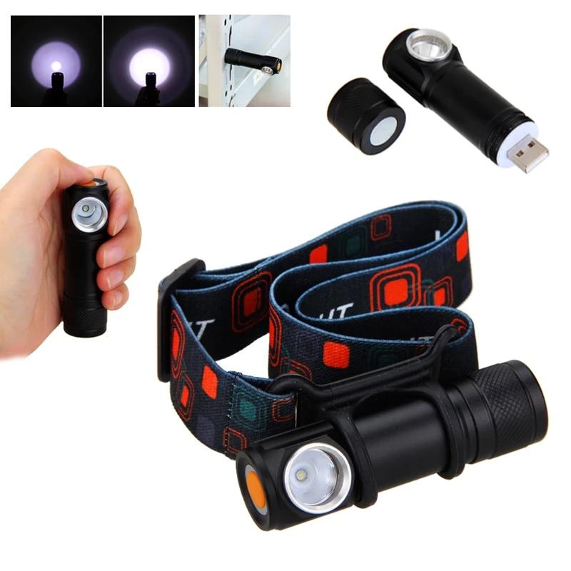 USB Rechargeable LED Headlamp Work light Headlight Torch Flashlight Lamp Outdoor