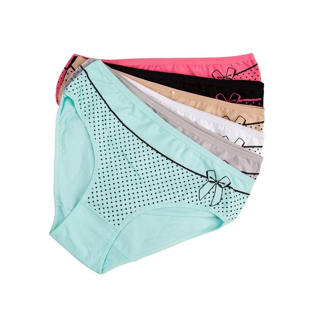 Women's cotton briefs sexy printed Panties 6pcs/set