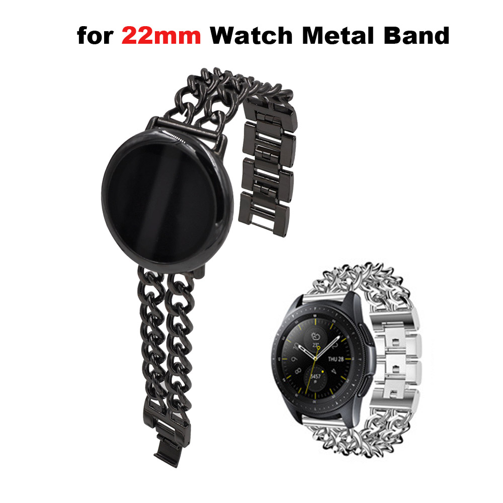22mm Bracelet Stainless Steel Metal Band For Xiaomi Amazfit GTR 47mm Pace Stratos 2 Watch Strap For Samsung Gear S3 Watchband