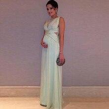 Elegante schwangere prom kleider günstige a line chiffon lange abendgesellschaft kleider 2016 vestidos de formatura