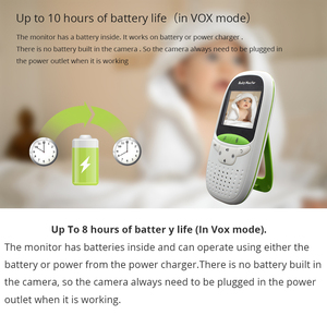 Image 4 - Baby Monitor VB602 Wireless Audio Video Baba Electronic Portable Intercom Babyfoon Camera BeBe Nanny Walkie Talkie Babysitter