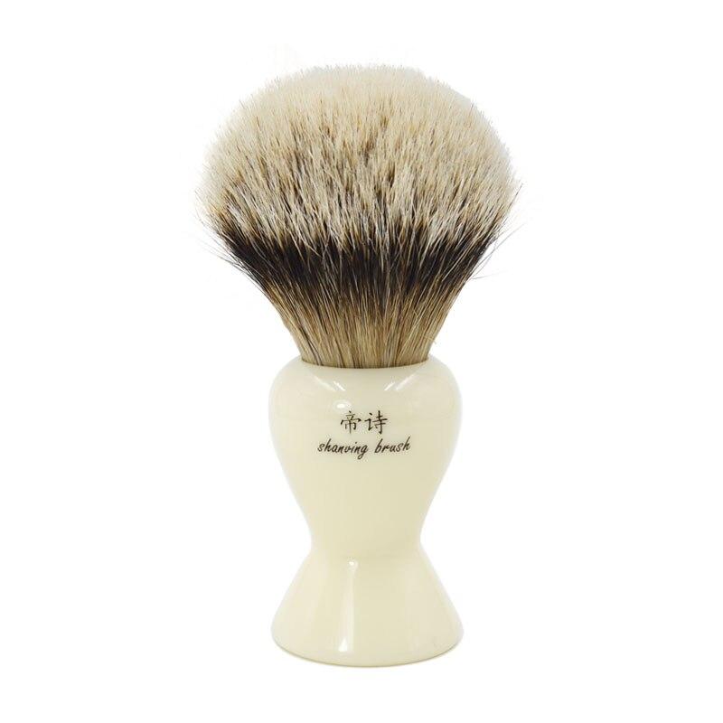 Big shaving brush knot 28mm silvertip badger shaving brush for man good quality hand-crafted shaving brush men's grooming kit shaving brush comb set natural boar bristle beard brush silvertip badger tooth comb for man gift box barber brush care of b