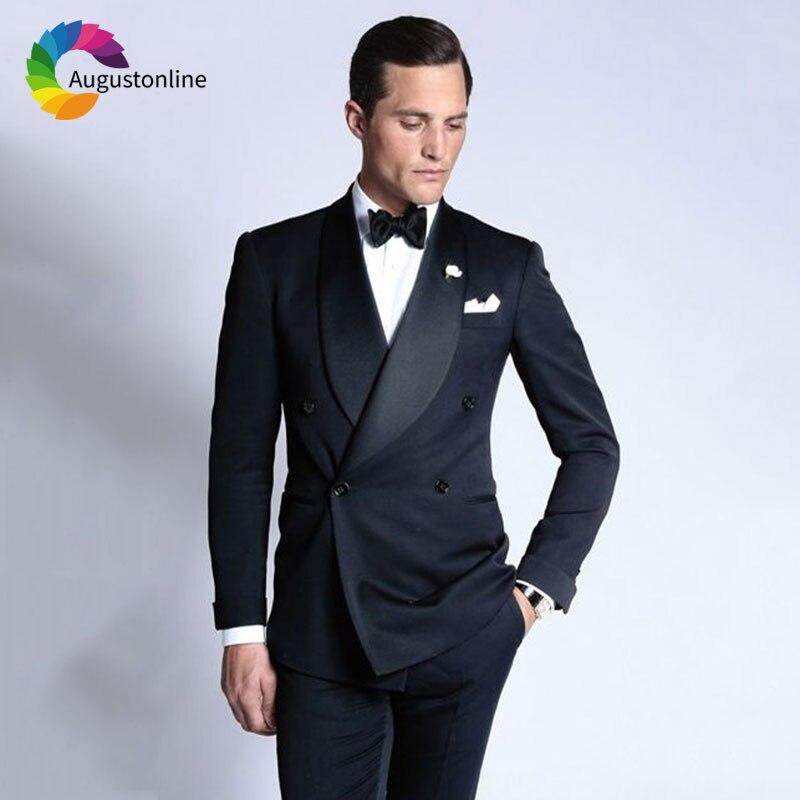 Traje custom Image Fit Made Hombres Color Novio As De Personalizado Padrino Esmoquin  Negros only Blazers Boda Piezas Doble Slim Jacket Trajes Hombre ... d024eadeb88