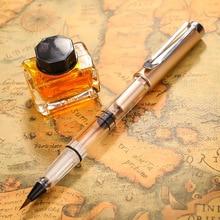 1 золотая металлическая каллиграфия красками, ручка, мягкие волосы, кисть для письма, рисование, вода, авторучка, школьные принадлежности, канцелярские принадлежности