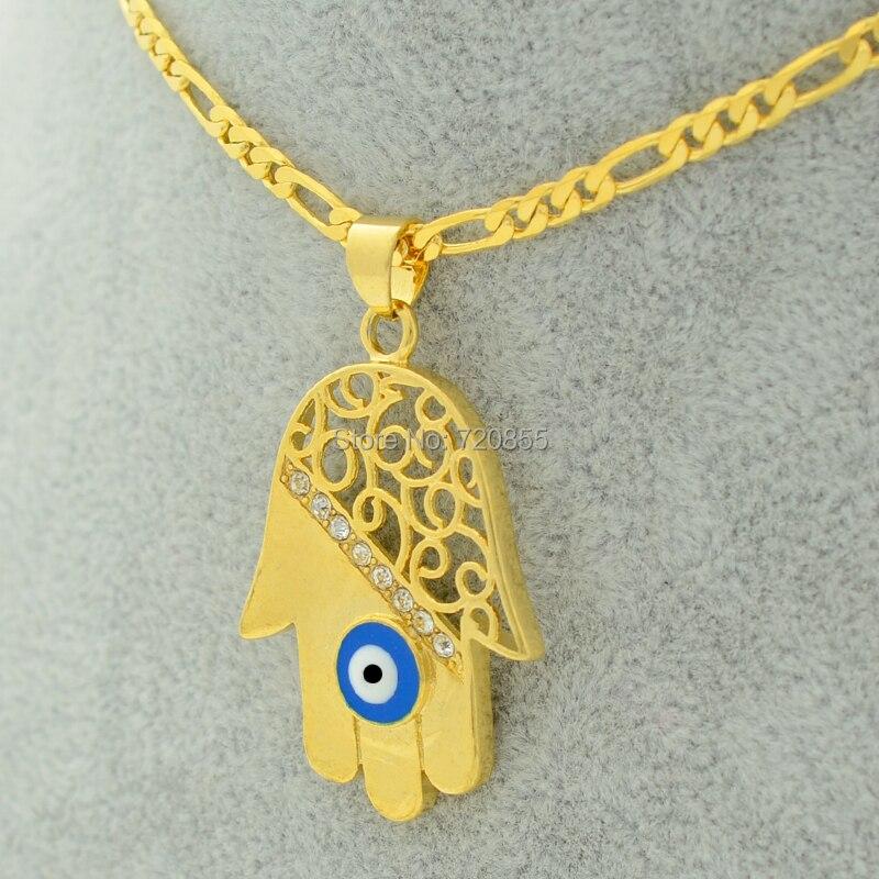 Aliexpress.com : Buy Hamsa Hand/Evil Eye Pendant Necklaces ...